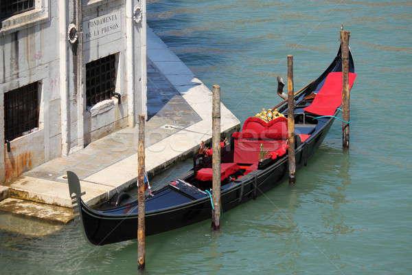 Gondol tekne Venedik İtalya deniz mavi Stok fotoğraf © alessandro0770