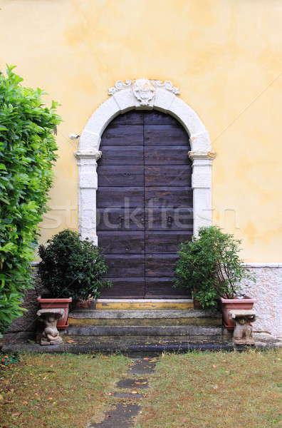 フロントドア ヴェローナ イタリア 家 木材 市 ストックフォト © alessandro0770
