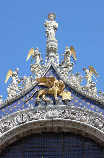 St. Mark statue with winged lion in Venice Stock photo © alessandro0770