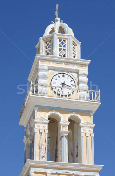 Church bell tower in Santorini Stock photo © alessandro0770