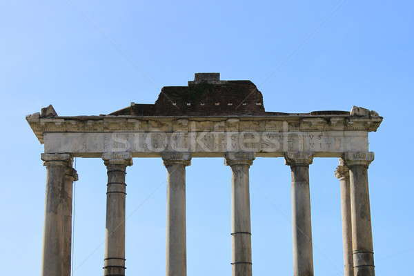 Stock photo: Saturn Temple in Rome