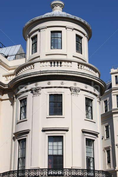 Gebouw Londen hemel stad kunst Blauw Stockfoto © alessandro0770