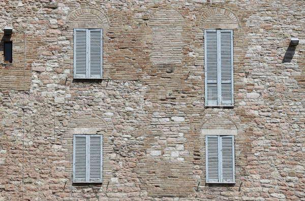 итальянский стиль жалюзи старые средневековых дворец Сток-фото © alessandro0770