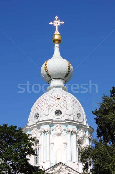 купол собора небе крест Церкви синий Сток-фото © alessandro0770