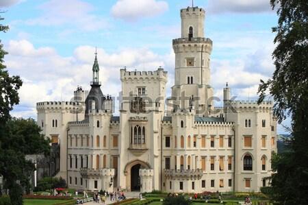 замок пейзаж мнение Чешская республика стены синий Сток-фото © alessandro0770