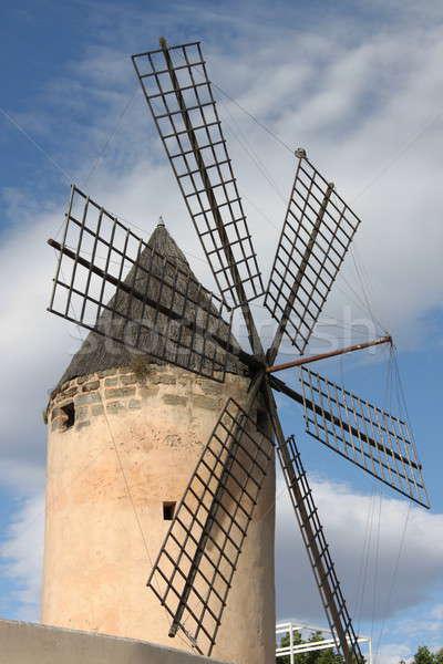 伝統的な スペイン語 風車 マヨルカ島 スペイン 建物 ストックフォト © alessandro0770