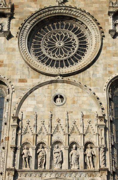 Facade of Como cathedral Stock photo © alessandro0770