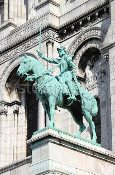 Equestrian Statue of Saint Joan of Arc on the Basilica Sacre Coeur Stock photo © alessandro0770