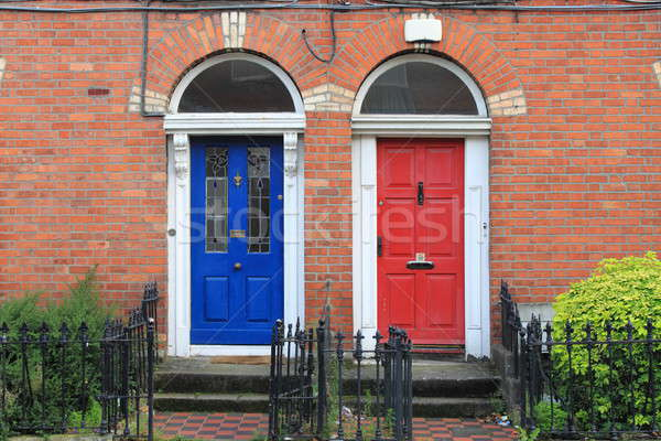 Georgian doors in Dublin Stock photo © alessandro0770