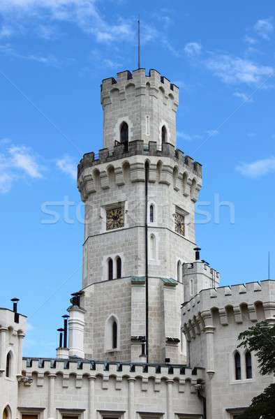 Belfry of Hluboka castle Stock photo © alessandro0770