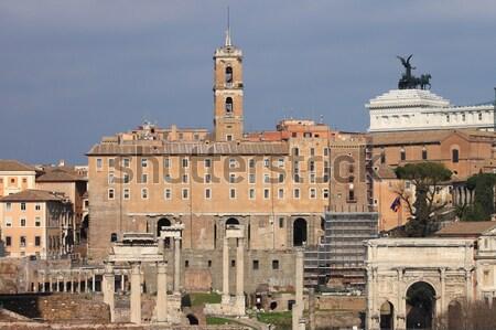 Romano fórum Roma Itália edifício viajar Foto stock © alessandro0770