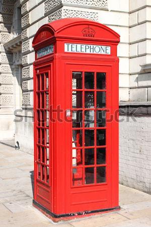 ロンドン 赤 電話 ボックス 典型的な ブース ストックフォト © alessandro0770