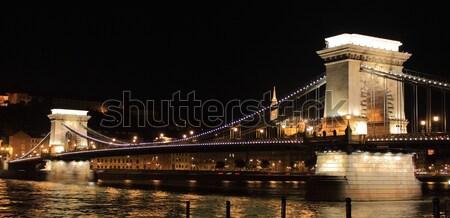チェーン 橋 1泊 ブダペスト ハンガリー 建物 ストックフォト © alessandro0770