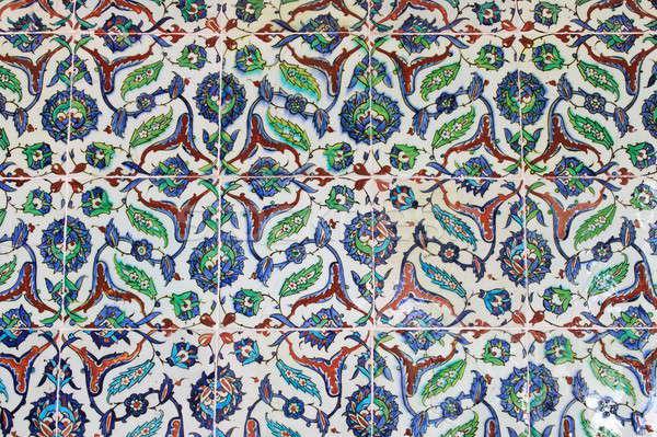 Türk kiremitli duvar stil arka plan sanat Stok fotoğraf © alessandro0770