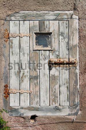 Сток-фото: древних · двери · древесины · парадная · дверь · замок