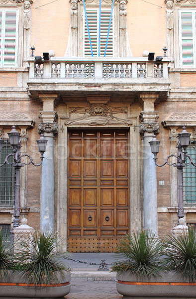 入り口 ドア 宮殿 ローマ 住宅 上院 ストックフォト © alessandro0770