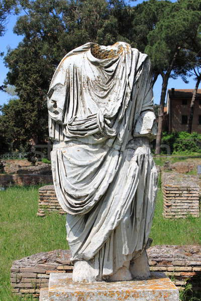 Beheaded statue of a roman senator Stock photo © alessandro0770