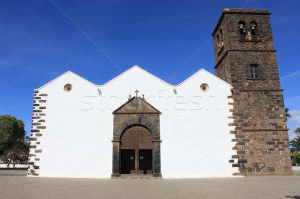 Kilise bayan İspanya gökyüzü Stok fotoğraf © alessandro0770