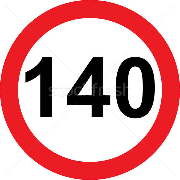 140 speed limitation road sign Stock photo © alessandro0770