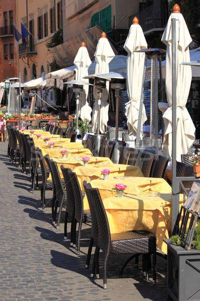 Típico restaurante Roma centro de la ciudad Italia casa Foto stock © alessandro0770