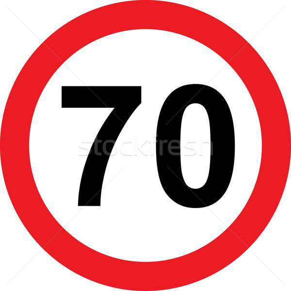 70 speed limitation road sign Stock photo © alessandro0770