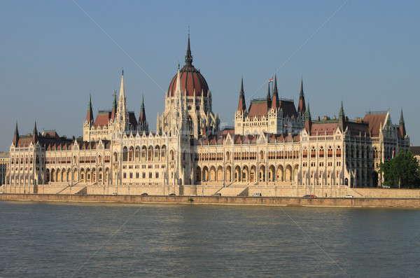 Parlamento Hungría Budapest edificio paisaje urbanas Foto stock © alessandro0770