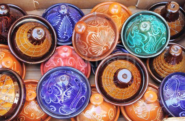 Colorful Tajines Stock photo © alessandro0770