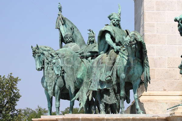 Equestrian statue in Heroes Square Stock photo © alessandro0770