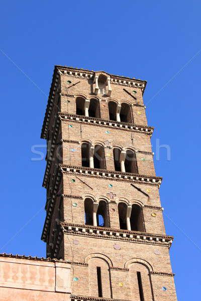 Romanic church bell tower Stock photo © alessandro0770