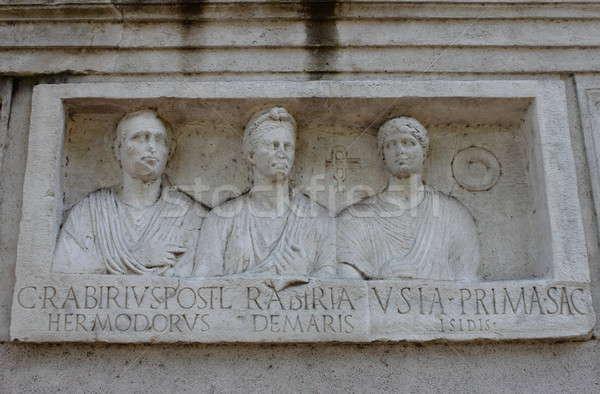 Yol Roma İtalya yol sanat taş Stok fotoğraf © alessandro0770