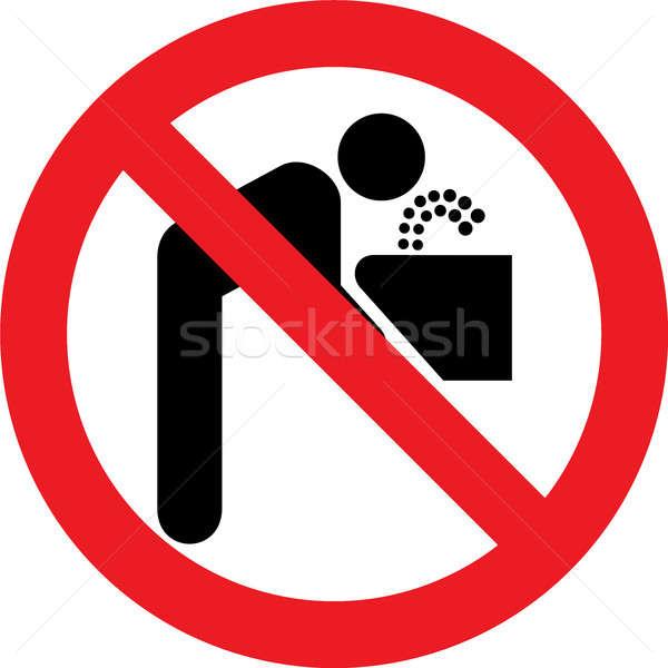 Geen drinkwater teken toegestaan water drinken Stockfoto © alessandro0770
