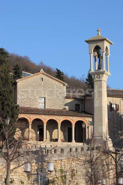 Church of Saint Quirino in San Marino Stock photo © alessandro0770