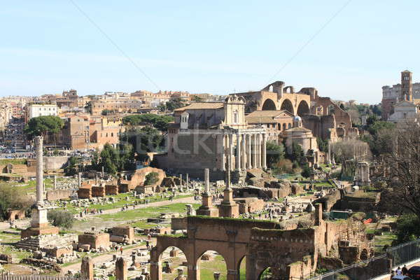 Romaine forum paysage vue Rome Italie Photo stock © alessandro0770