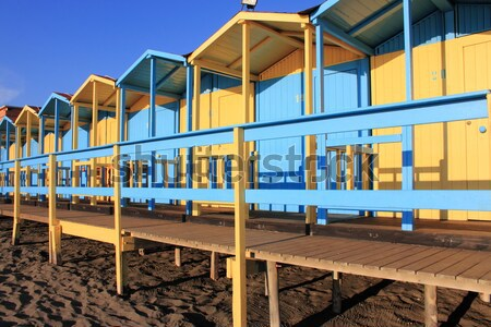 Bathing boxes on the beach Stock photo © alessandro0770