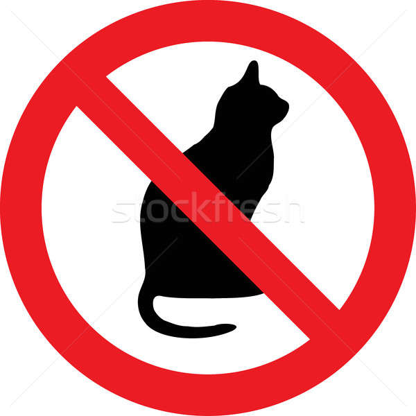 No cats sign Stock photo © alessandro0770