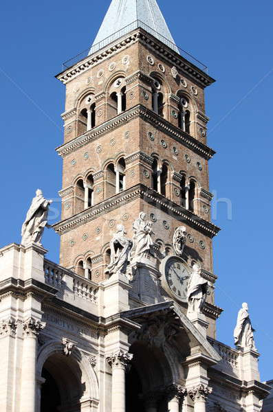 Belfry of Saint Mary Major Basilica in Rome Stock photo © alessandro0770