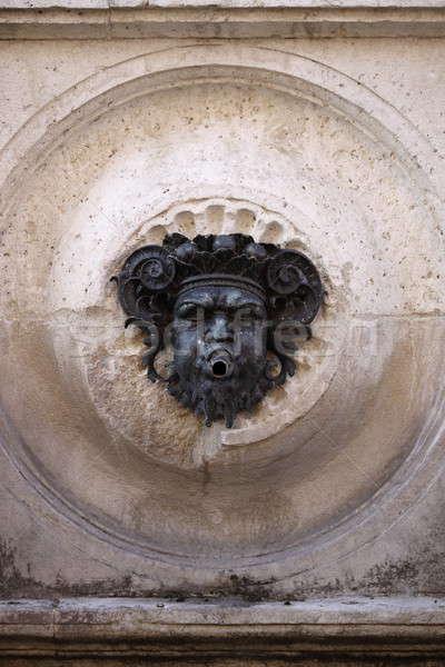 Сток-фото: фонтан · каменные · маске · статуя · Европа