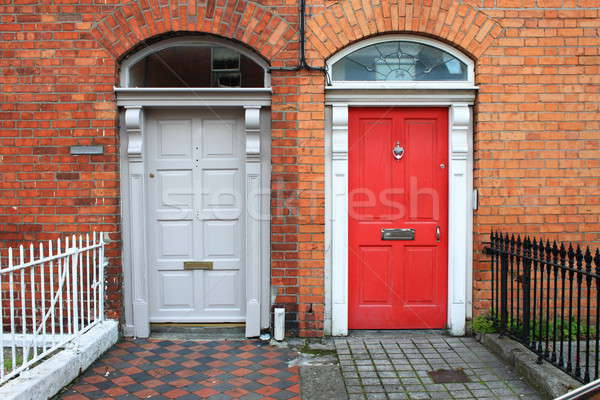 ドア 家 壁 レンガ アーキテクチャ 白 ストックフォト © alessandro0770
