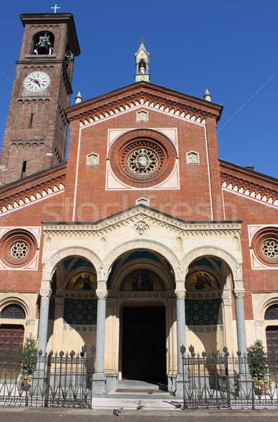 Stockfoto: Kerk · milaan · Italië · landschap · deur