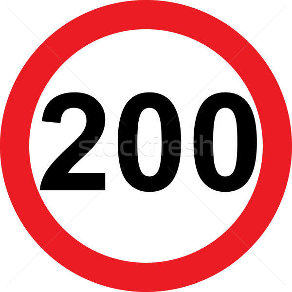 200 speed limitation road sign Stock photo © alessandro0770