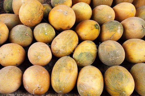 Fresh yellow melons Stock photo © alessandro0770