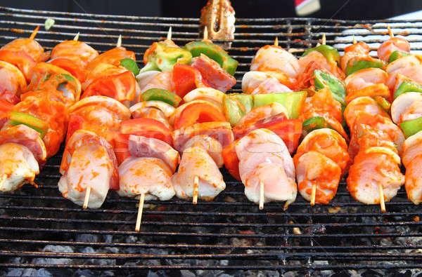 Shish kebab on skewers Stock photo © alessandro0770