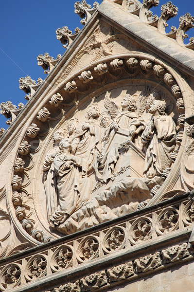 Bas-relief on the facade of Palma de Mallorca cathedral Stock photo © alessandro0770