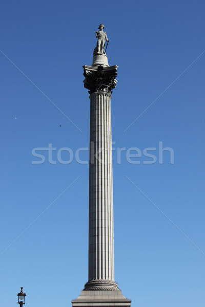 Sütun Londra kare beyaz heykel mermer Stok fotoğraf © alessandro0770