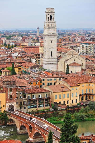 パノラマ 表示 ヴェローナ イタリア 建物 教会 ストックフォト © alessandro0770