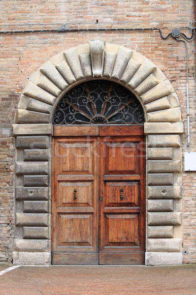 Medieval front door Stock photo © alessandro0770