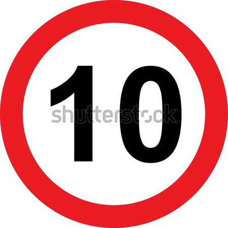 10 speed limitation road sign Stock photo © alessandro0770
