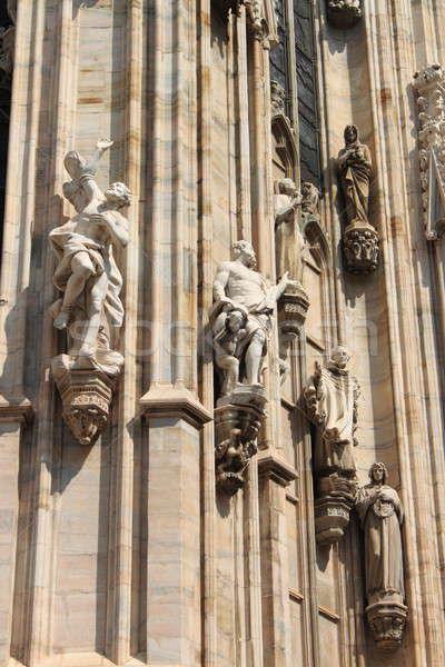 Milan catedral gótico Itália edifício arte Foto stock © alessandro0770