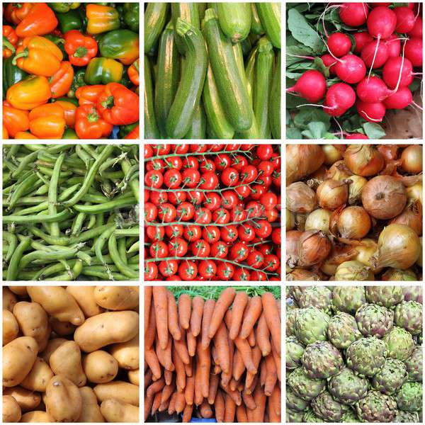 Fresh vegetables collage Stock photo © alessandro0770