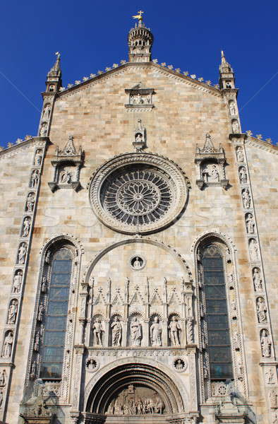 Facade of Como cathedral Stock photo © alessandro0770
